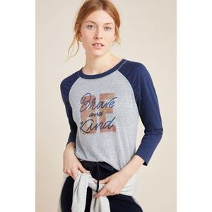 Anthropologie Alice Loro Retro Baseball Tee